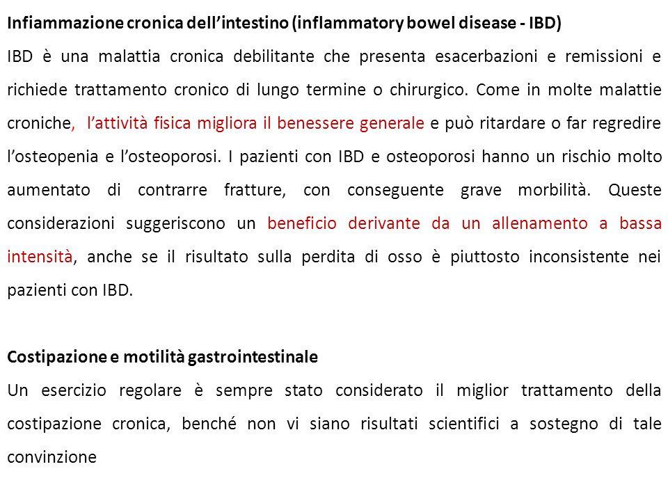 Infiammazione cronica dell'intestino (inflammatory bowel disease - IBD)