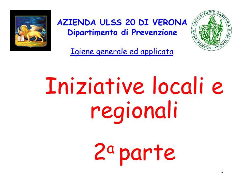 Iniziative locali e regionali 2a parte