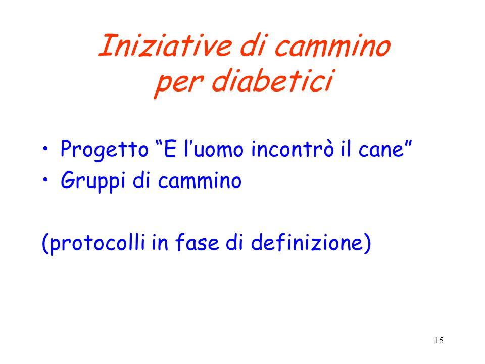 Iniziative di cammino per diabetici