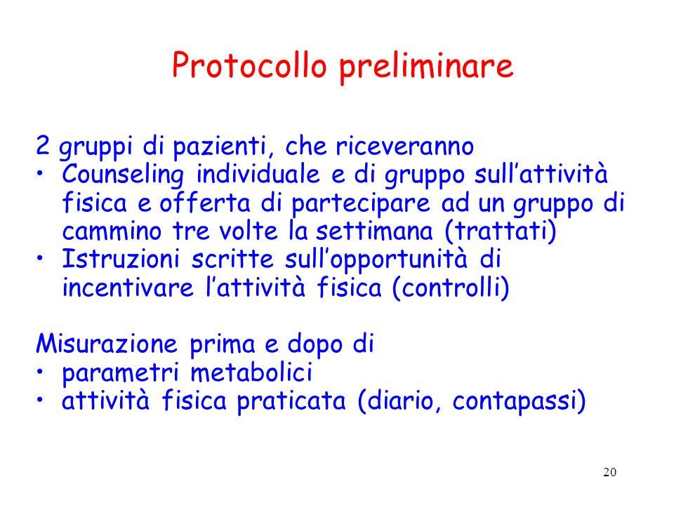 Protocollo preliminare