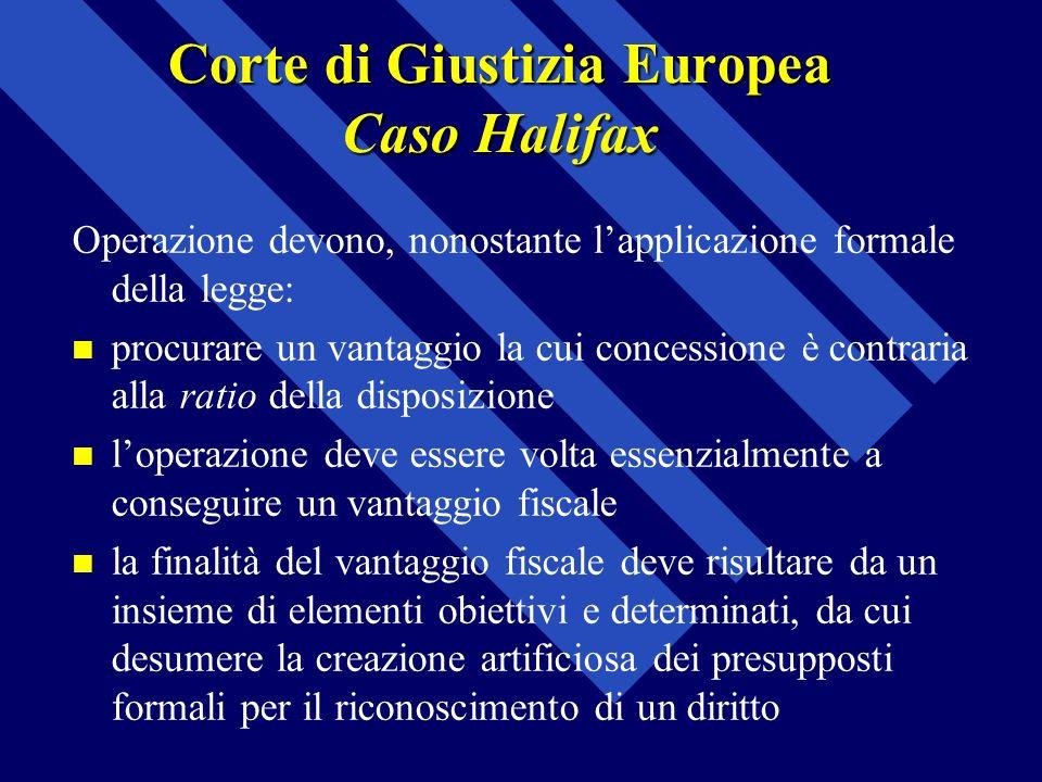 Corte di Giustizia Europea Caso Halifax