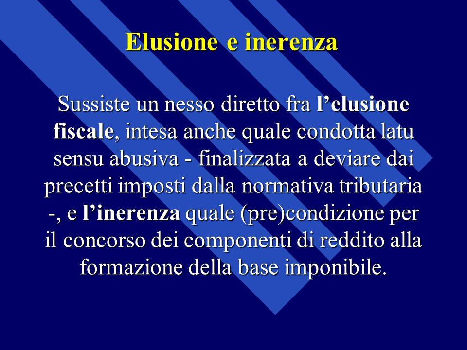 Elusione e inerenza