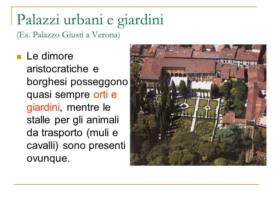 Palazzi urbani e giardini (Es. Palazzo Giusti a Verona)