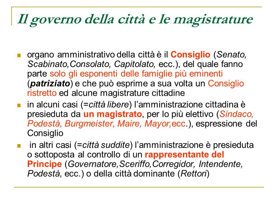 Il governo della città e le magistrature