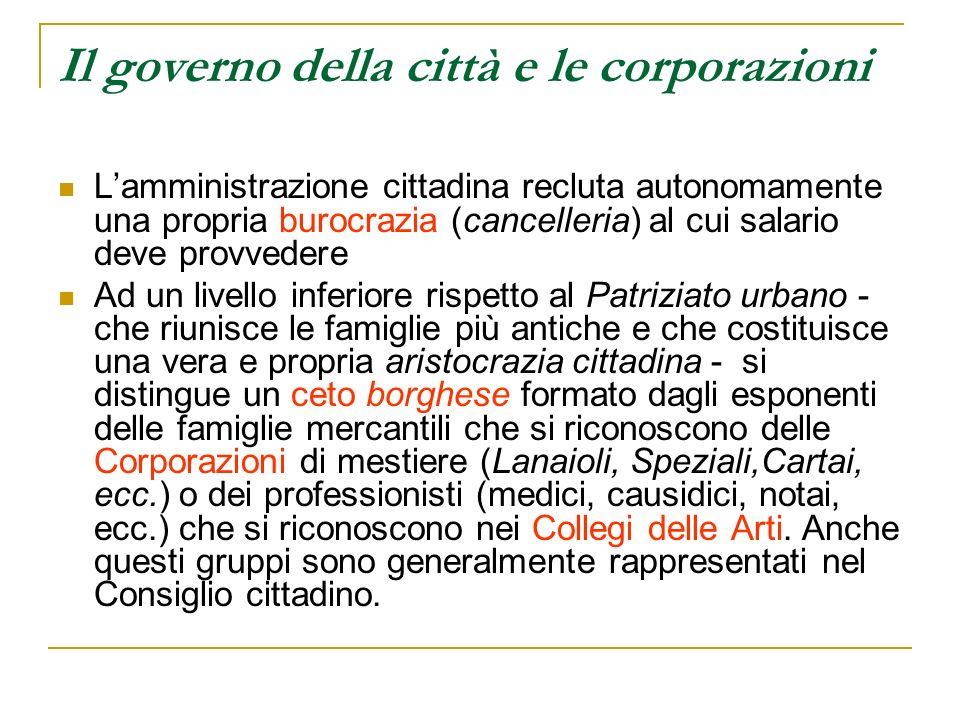 Il governo della città e le corporazioni