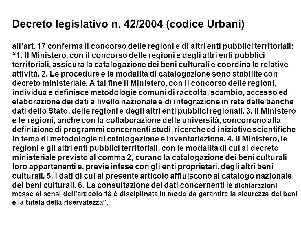 Decreto legislativo n. 42/2004 (codice Urbani)
