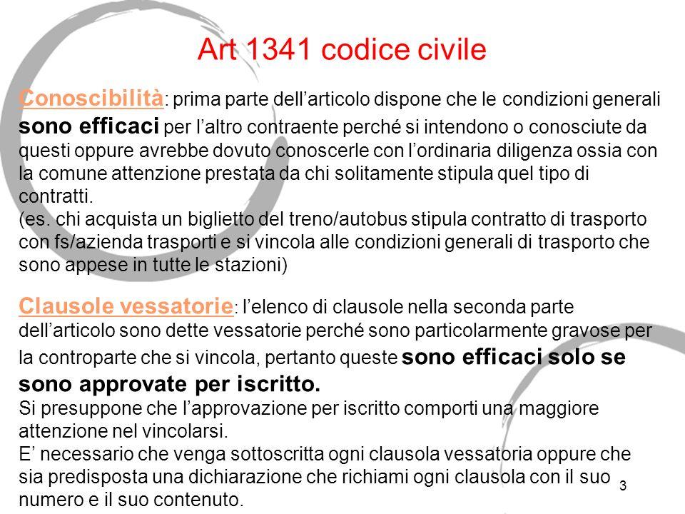 Art 1341 codice civile