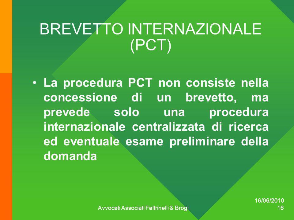 BREVETTO INTERNAZIONALE (PCT)