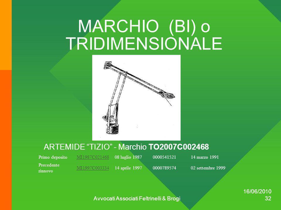 MARCHIO (BI) o TRIDIMENSIONALE
