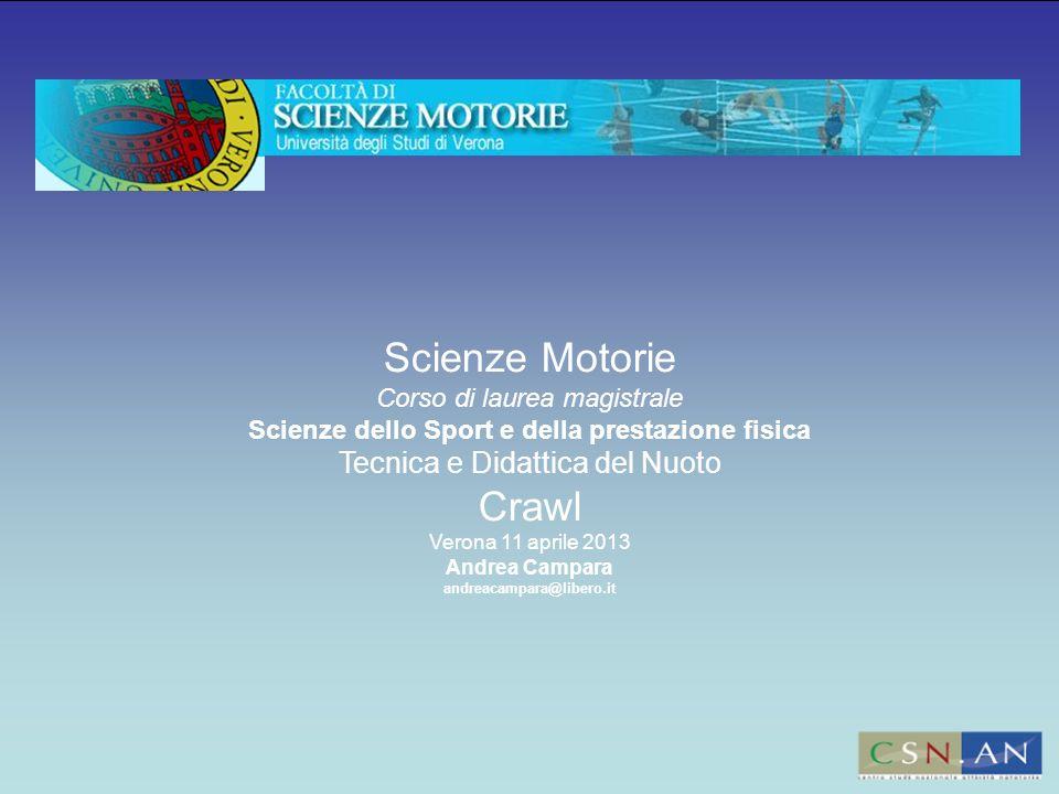 Scienze Motorie Crawl Tecnica e Didattica del Nuoto