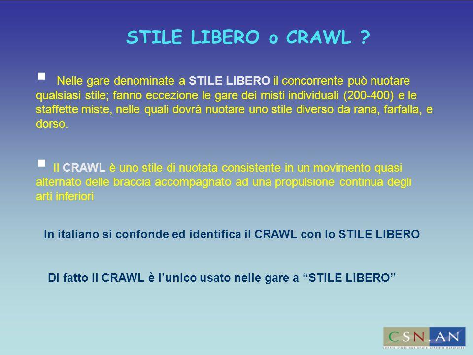 STILE LIBERO o CRAWL
