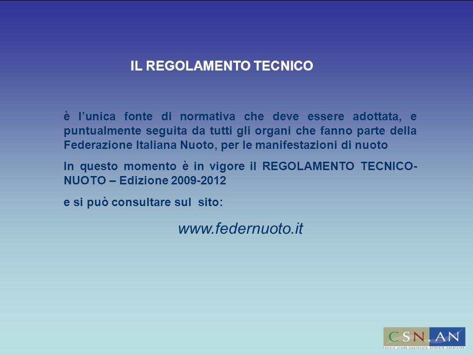 www.federnuoto.it IL REGOLAMENTO TECNICO