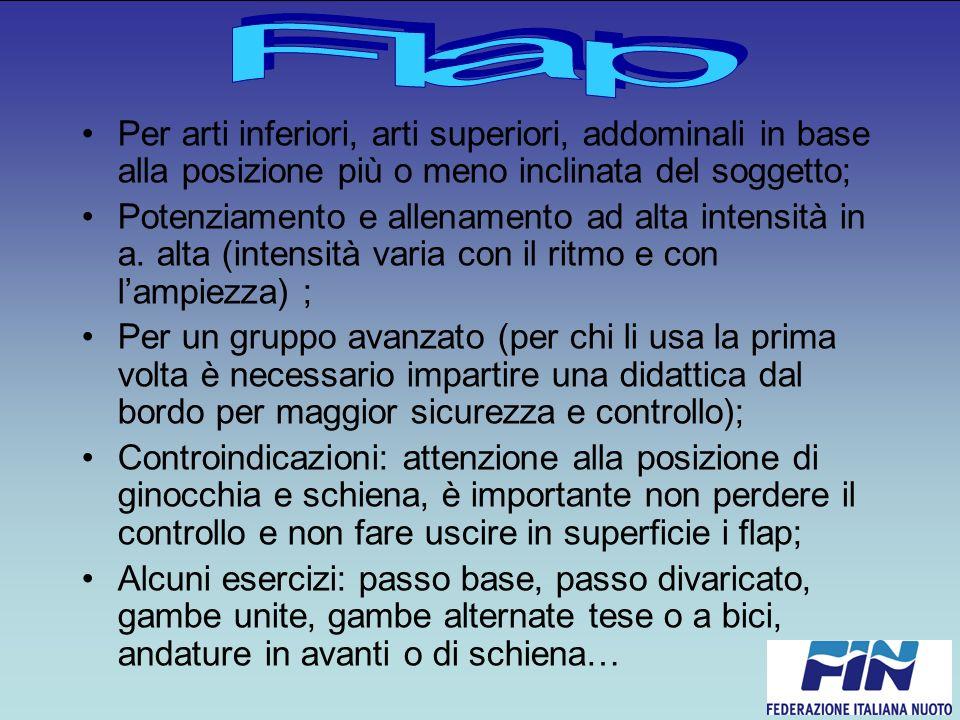 Flap Per arti inferiori, arti superiori, addominali in base alla posizione più o meno inclinata del soggetto;