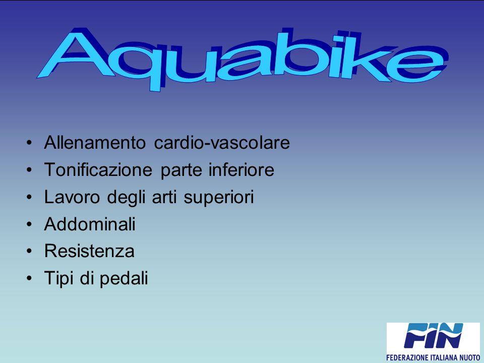 Aquabike Allenamento cardio-vascolare Tonificazione parte inferiore