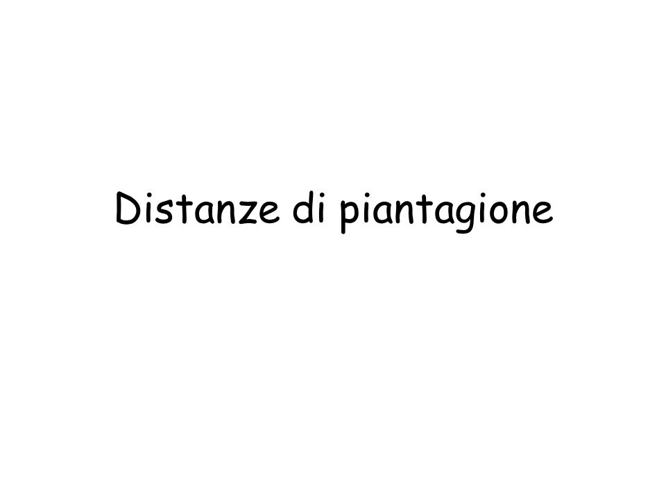 Distanze di piantagione