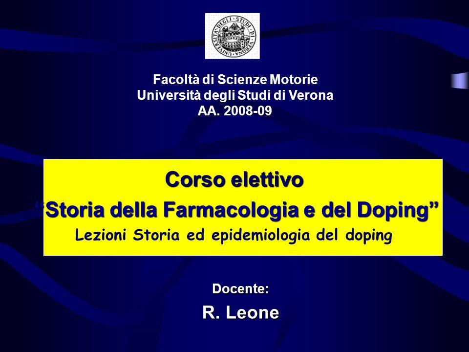 Facoltà di Scienze Motorie Università degli Studi di Verona