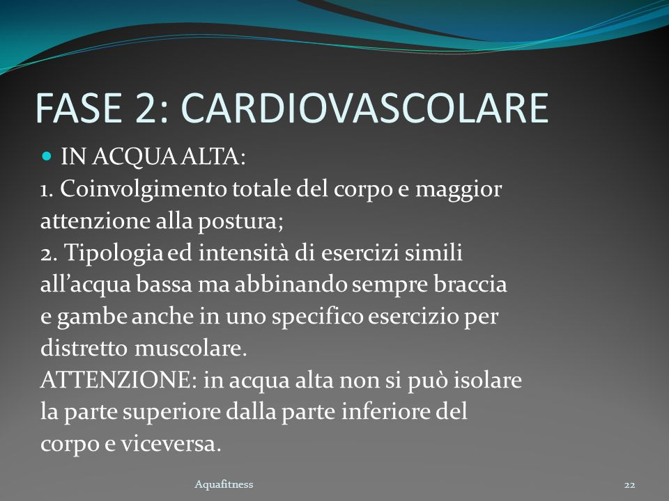 FASE 2: CARDIOVASCOLARE