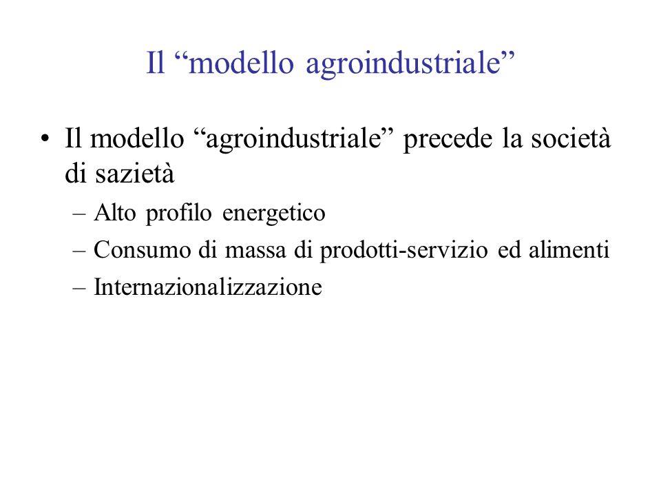Il modello agroindustriale