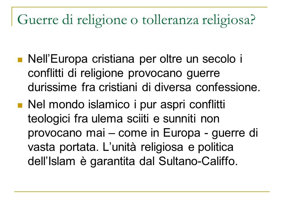 Guerre di religione o tolleranza religiosa