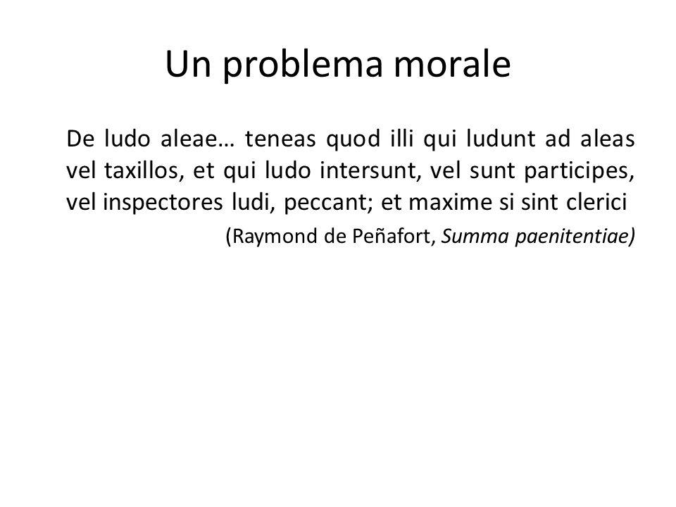 Un problema morale