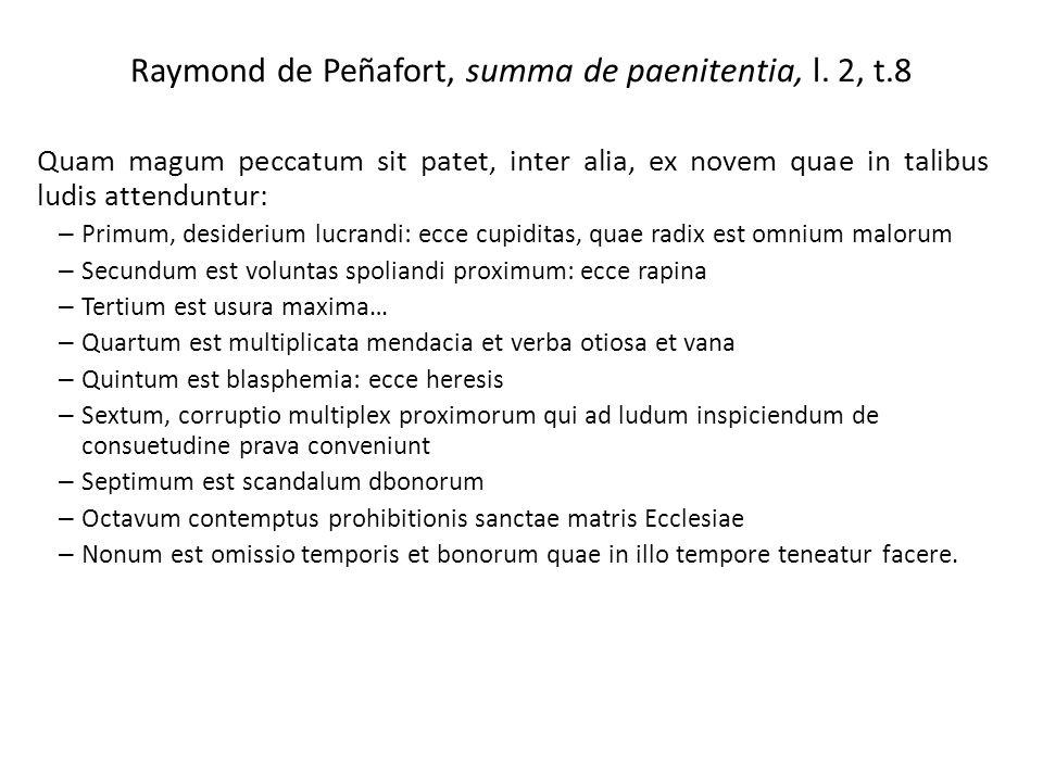 Raymond de Peñafort, summa de paenitentia, l. 2, t.8