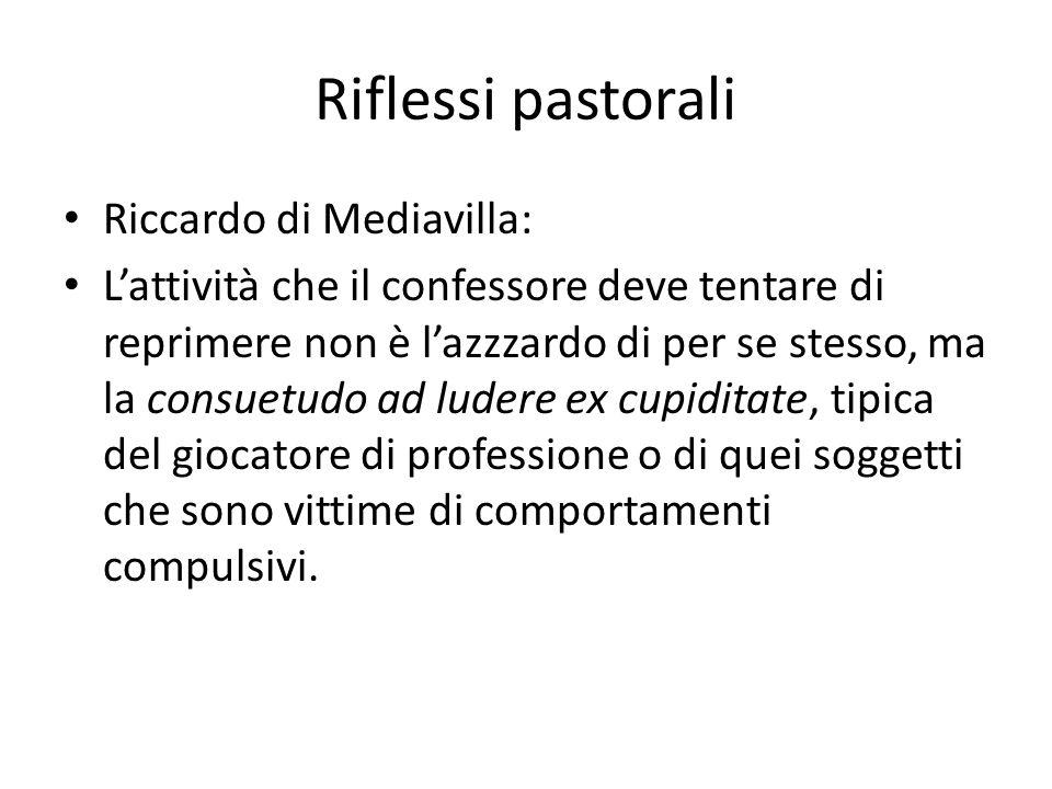 Riflessi pastorali Riccardo di Mediavilla: