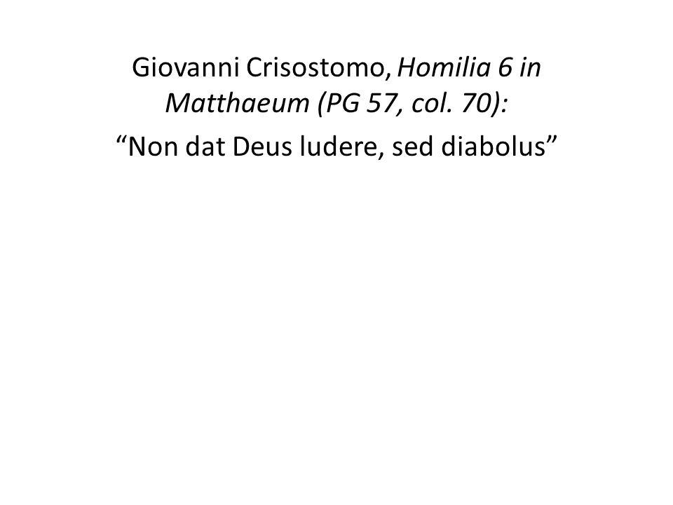 Giovanni Crisostomo, Homilia 6 in Matthaeum (PG 57, col