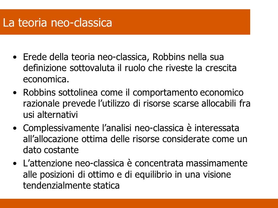 La teoria neo-classica