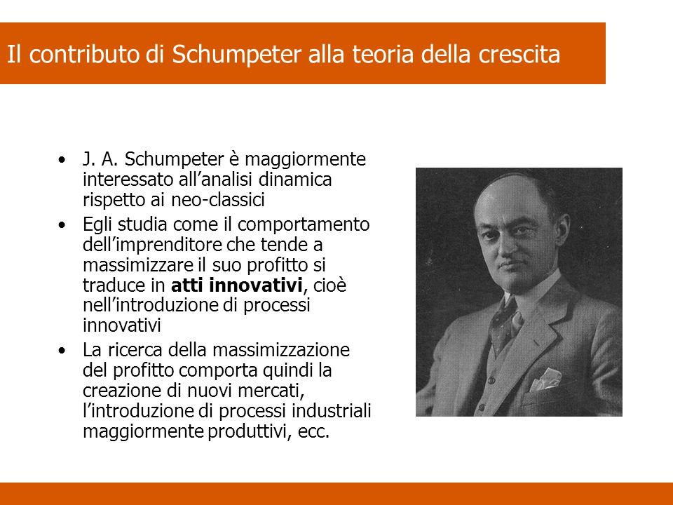 Il contributo di Schumpeter alla teoria della crescita