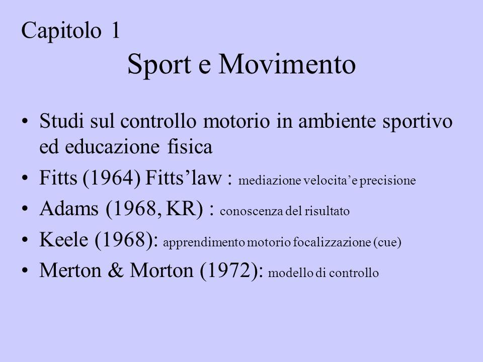 Sport e Movimento Capitolo 1