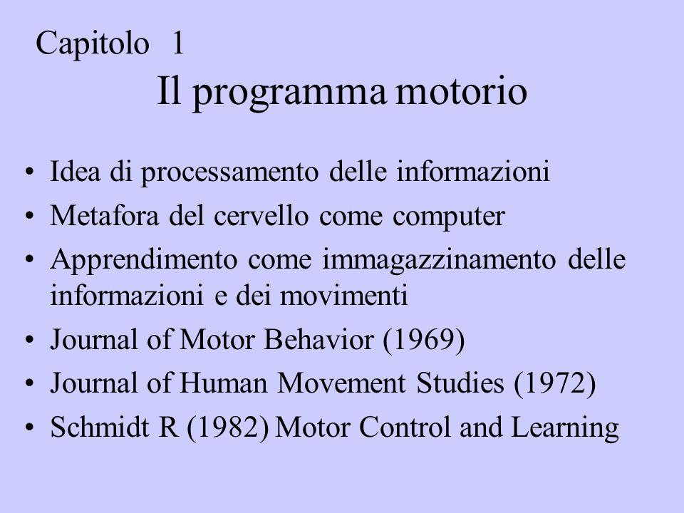 Il programma motorio Capitolo 1