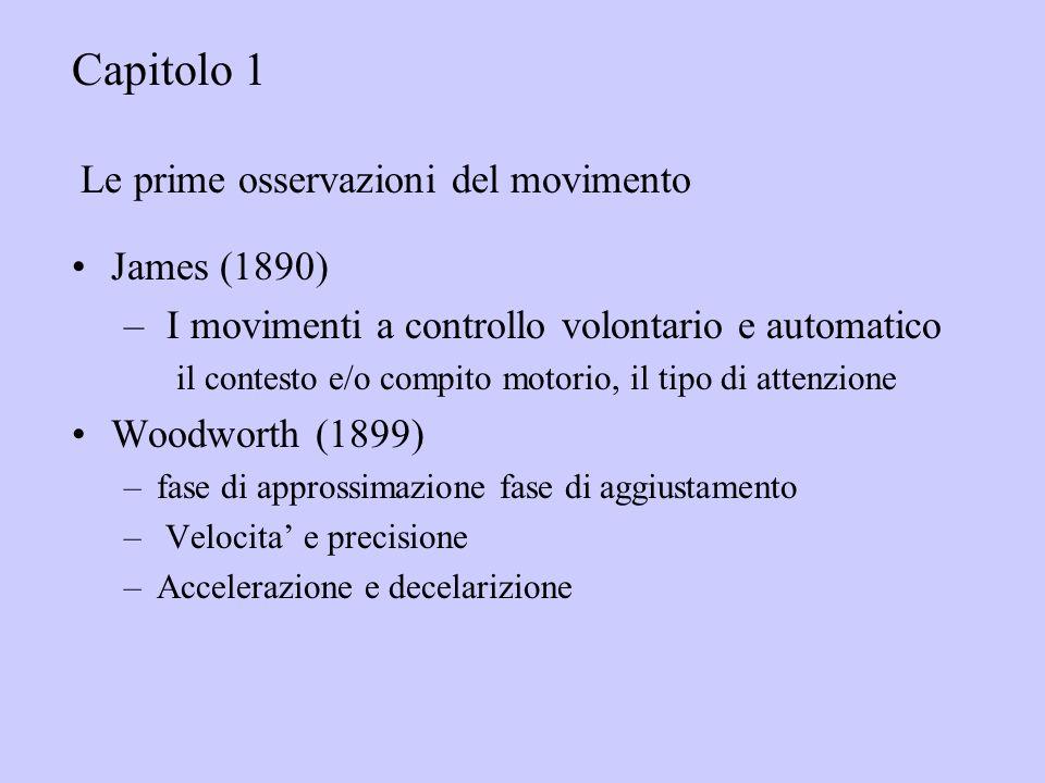 Capitolo 1 Le prime osservazioni del movimento James (1890)
