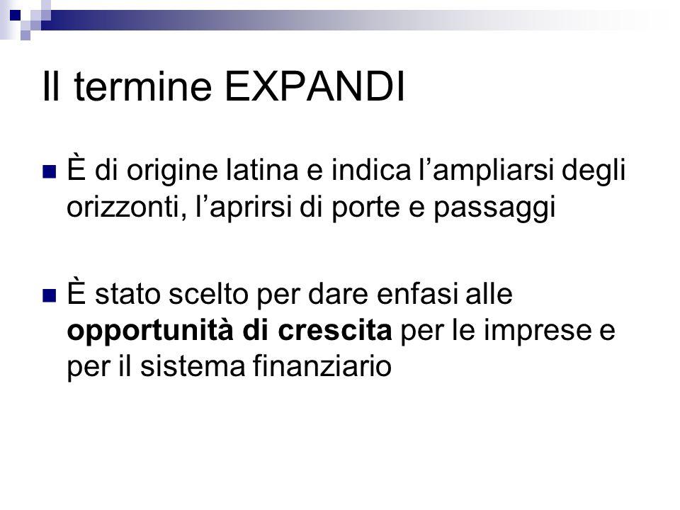 Il termine EXPANDI È di origine latina e indica l'ampliarsi degli orizzonti, l'aprirsi di porte e passaggi.