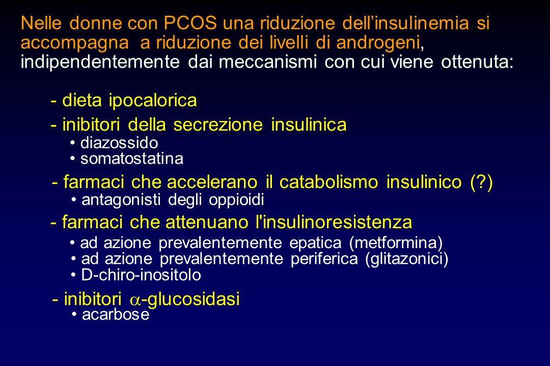 - inibitori della secrezione insulinica