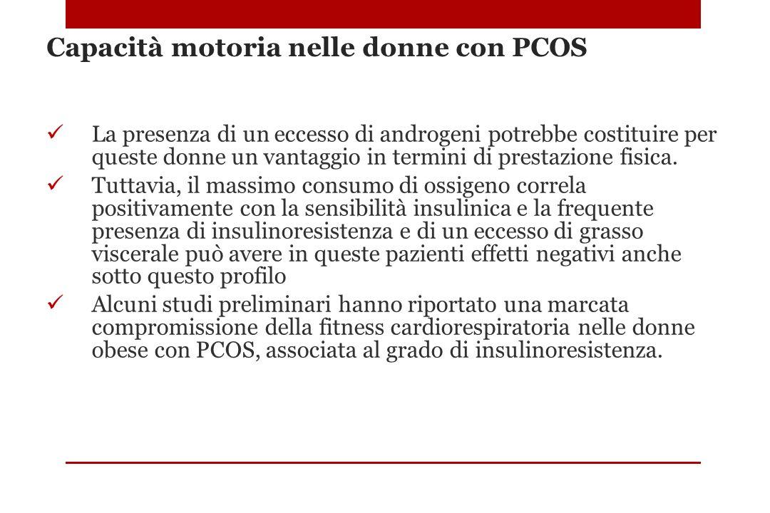 Capacità motoria nelle donne con PCOS