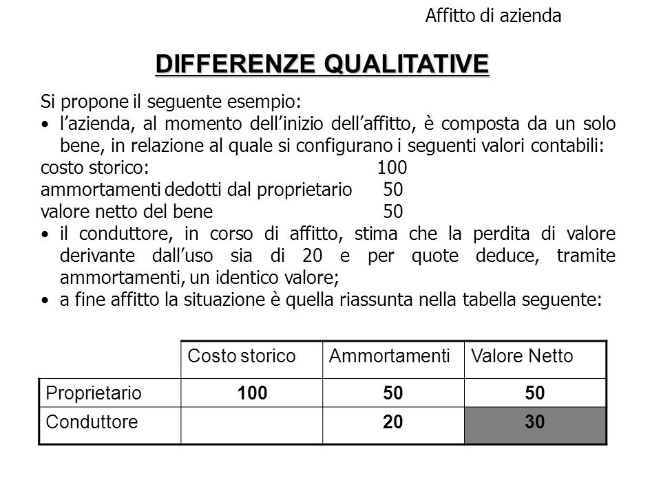 DIFFERENZE QUALITATIVE