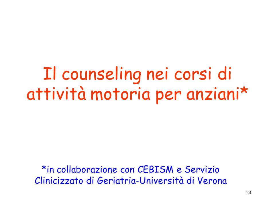 Il counseling nei corsi di attività motoria per anziani*