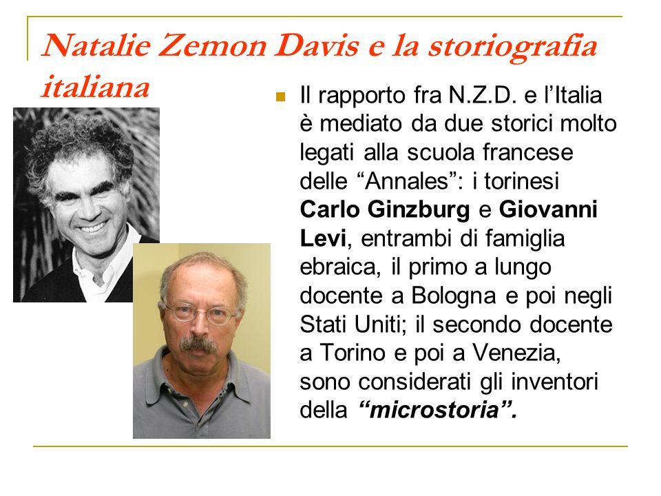Natalie Zemon Davis e la storiografia italiana