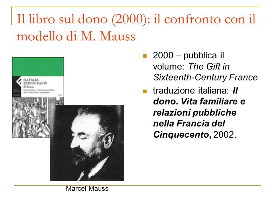 Il libro sul dono (2000): il confronto con il modello di M. Mauss