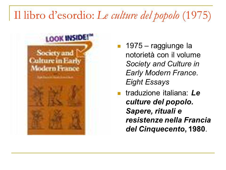 Il libro d'esordio: Le culture del popolo (1975)