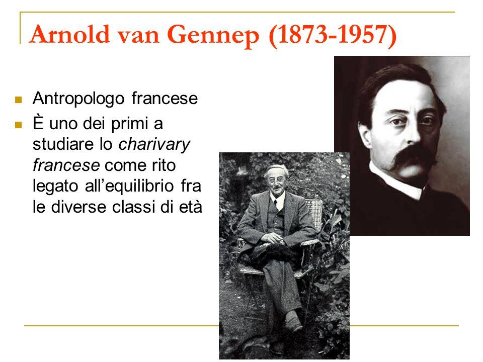 Arnold van Gennep (1873-1957) Antropologo francese