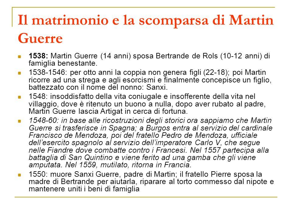 Il matrimonio e la scomparsa di Martin Guerre