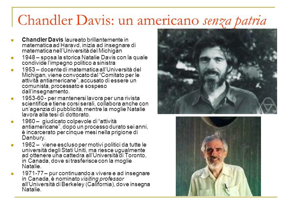 Chandler Davis: un americano senza patria