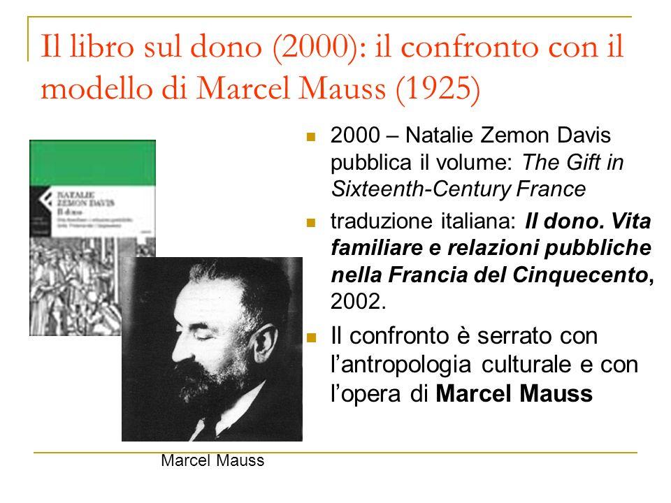 Il libro sul dono (2000): il confronto con il modello di Marcel Mauss (1925)