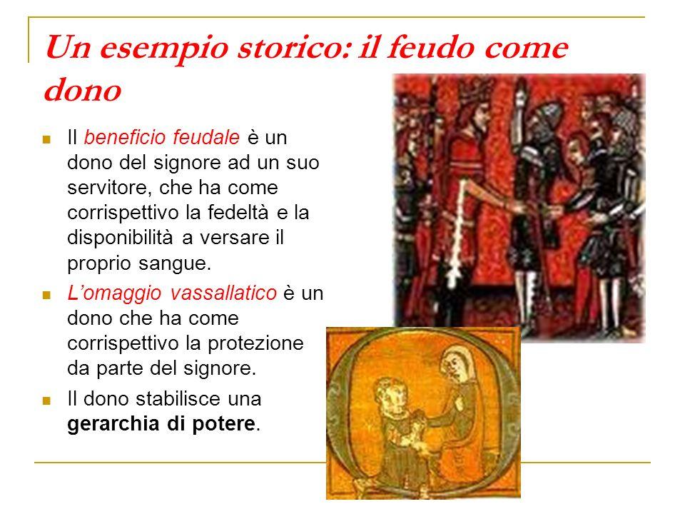 Un esempio storico: il feudo come dono