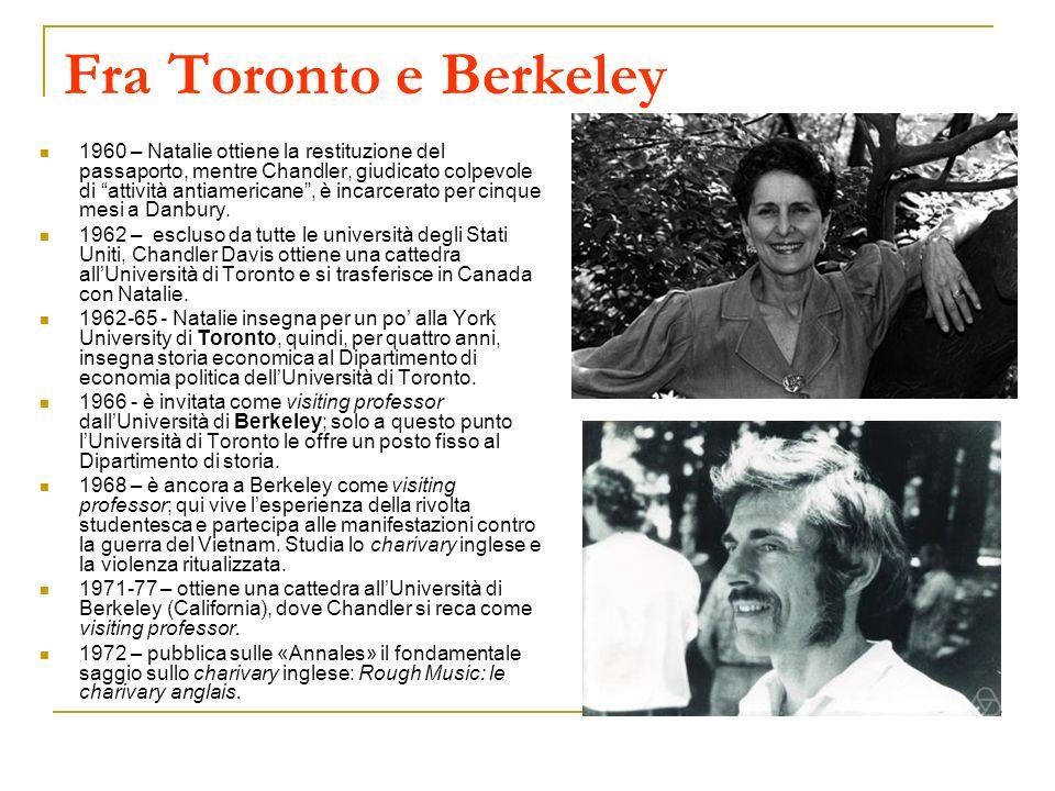 Fra Toronto e Berkeley