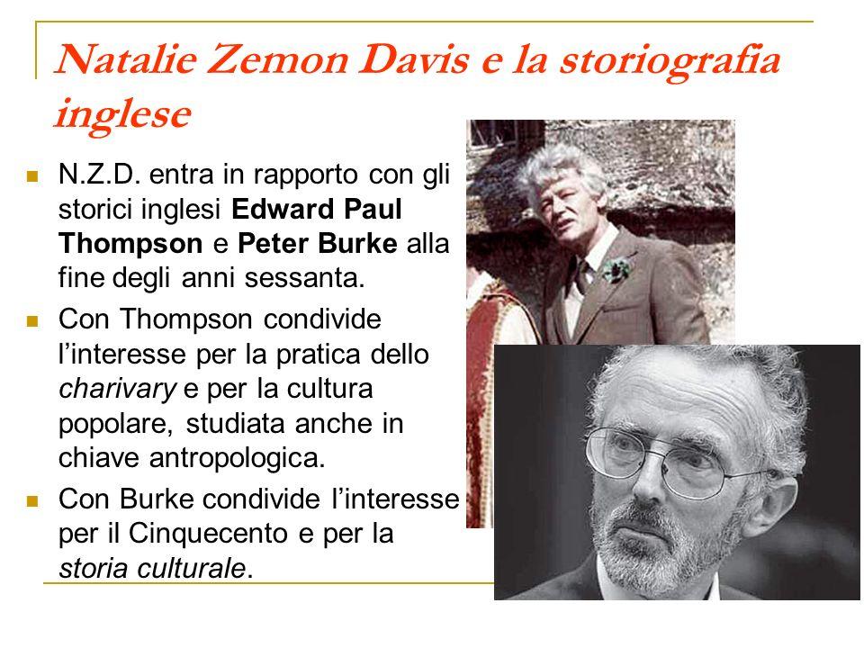 Natalie Zemon Davis e la storiografia inglese
