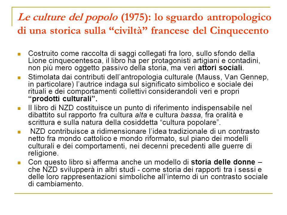 Le culture del popolo (1975): lo sguardo antropologico di una storica sulla civiltà francese del Cinquecento