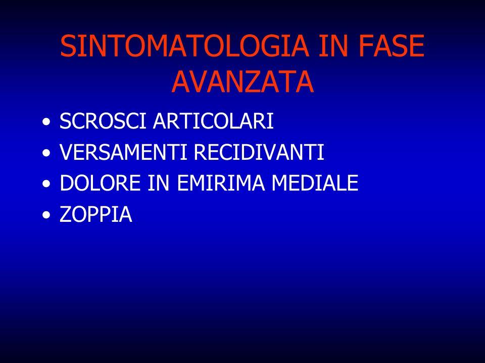 SINTOMATOLOGIA IN FASE AVANZATA