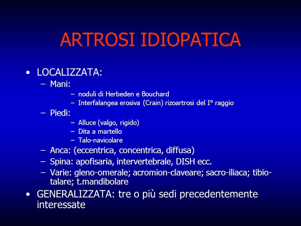 ARTROSI IDIOPATICA LOCALIZZATA: